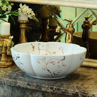 The rain spring basin art of jingdezhen ceramic table rounded petals continental basin bathroom sinks sink