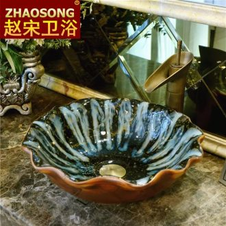 Europe type restoring ancient ways is a large ceramic table face basin hotel toilet lavabo basin of Chinese style on the balcony