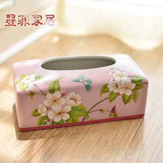 Murphy's new Chinese style restoring ancient ways to decorate restaurant household smoke box American country ceramic tissue box sitting room tea table