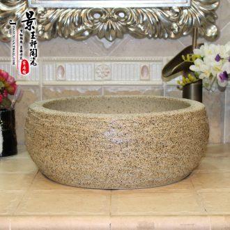 JingYuXuan jingdezhen ceramic lavatory sink basin basin art stage basin waist drum of rain flower stones