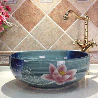 Jingdezhen ceramic lavatory basin basin art on the sink basin kiln glaze color lotus much money