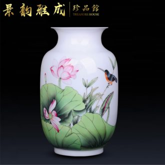 Jingdezhen ceramic home sitting room porch handmade porcelain decorative flower vase is placed new Chinese arts and crafts
