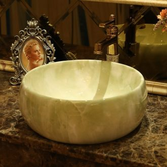 Jingdezhen ceramic stage basin of continental basin art circle marbled bathroom sinks the sink