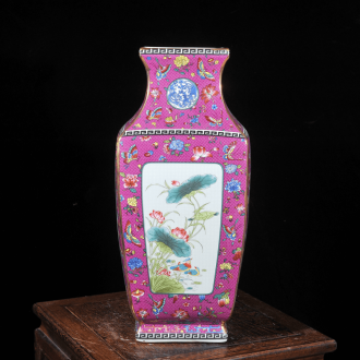 Emperor Po already jingdezhen ceramic antique vase of flowers and birds kiln furnishing articles housewarming flower arranging European crafts sitting room