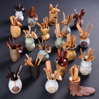 Ceramic tea sets tea tray accessories kung fu tea bamboo special tea six gentleman's tea set