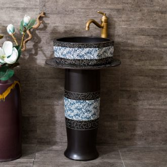 Pillar lavabo ceramic column basin integrated floor archaize home toilet lavatory sink the balcony