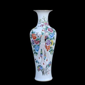 Jingdezhen ceramic vases, antique hand-painted pastel kam tong rich goddess of mercy bottle of large vases, decorative furnishing articles