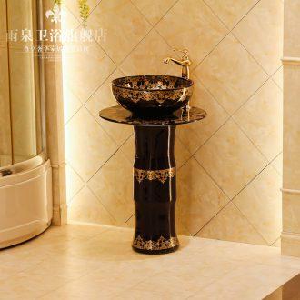 Spring rain of jingdezhen ceramic art basin column column basin basin sink lavatory basin ceramics