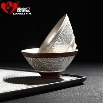 Recreation article 999 sterling silver hand coppering.as ceramic sample tea cup silver cup perfectly playable cup bowl silver cup gift master
