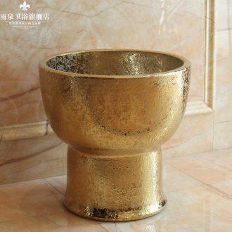 The rain spring basin of jingdezhen ceramic art mop mop pool balcony hotel golden toilet mop mop pool pool
