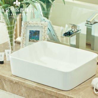 Jingdezhen ceramic toilet stage basin rain spring art basin on the lavatory basin plain white balcony sink