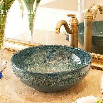 Jingdezhen ceramic toilet stage basin rain spring art basin basin sink size basin glaze