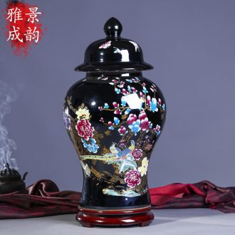 Jingdezhen general pot vase China creative sitting room ground ceramic restoring ancient ways is contracted handmade works of art