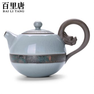 Thyme tang home slicing can raise elder brother kiln teapot of ice to crack glaze kung fu tea accessories xi shi single pot