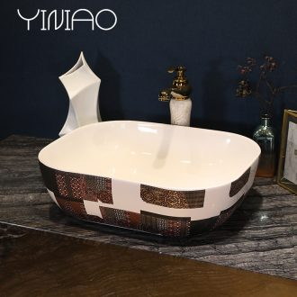 Million birds European stage basin to jingdezhen ceramic lavatory toilet stage basin art basin on the sink