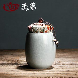 Jade art tea set your kiln porcelain ceramic caddy straight canister Japanese carry box cover tea POTS