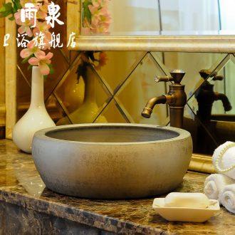 Rain spring basin of jingdezhen ceramics on golden orb art basin lavatory basin lavabo that defend bath