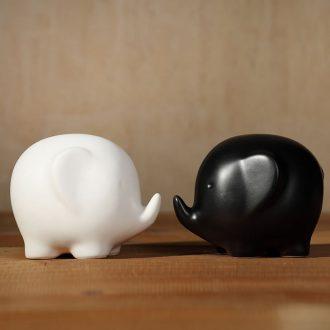 Zakka creative ceramic handicrafts object and white girlfriend married love gift couple furnishing articles