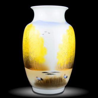 Cixin qiu - yun jingdezhen ceramics celebrity hand-painted powder enamel vase boutique sitting room home rich ancient frame adornment furnishing articles