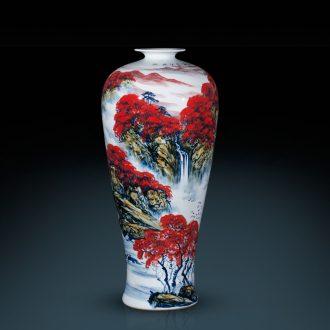 Jingdezhen ceramics hand full of Chinese style of large vase hotel decoration furnishing articles large living room