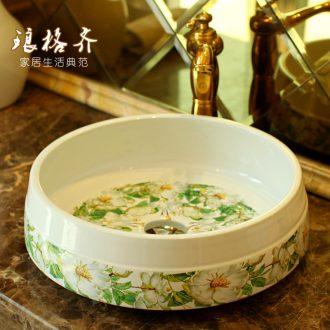 Koh larn, qi stage basin to jingdezhen ceramic lavabo that defend bath lavatory basin art quietly elegant is jasmine