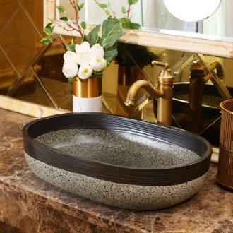 Jingdezhen rain spring basin art ceramic stage basin hotel balcony sink elliptic toilet lavatory