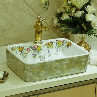 Jingdezhen ceramic stage basin art square European contemporary and contracted household toilet lavatory sink