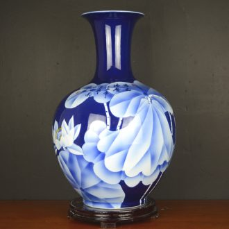 Jingdezhen ceramics hand-painted vases, large living room club hotel Chinese style household soft adornment porch place