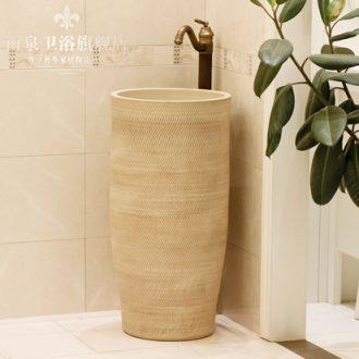 Jingdezhen ceramic basin art lavatory conjoined column one column pillar lavabo lavatory toilet the balcony