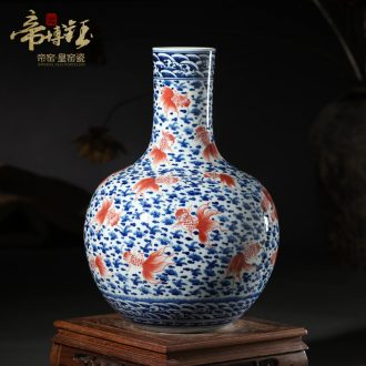 Jingdezhen ceramic vases, antique hand-painted porcelain youligong large sitting room married the tree handicraft furnishing articles
