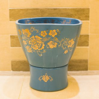 Koh larn, neat package mail of jingdezhen ceramic art basin fangyuan mop mop pool pool paint peony T031