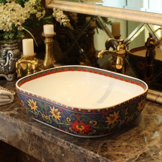 Jingdezhen ceramic stage basin art square European toilet lavatory sink household color restoring ancient ways
