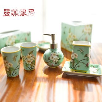 Murphy set American country ceramic sanitary ware five new Chinese style toilet bathroom toiletries decorative furnishing articles