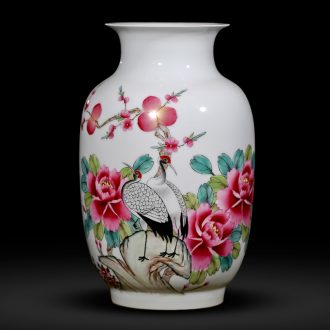 Master of jingdezhen ceramics hand-painted vases pastel wax gourd wine bottle of new Chinese style the sitting room porch place gifts