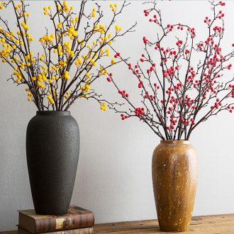 Like a flower ceramic vase furnishing articles sitting room flower arranging flower implement mesa adornment retro big POTS earthenware flowerpot