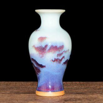Floret bottle archaize jun porcelain of jingdezhen ceramics furnishing articles creative hand-made flowers flower arrangement, hydroponic home decorations