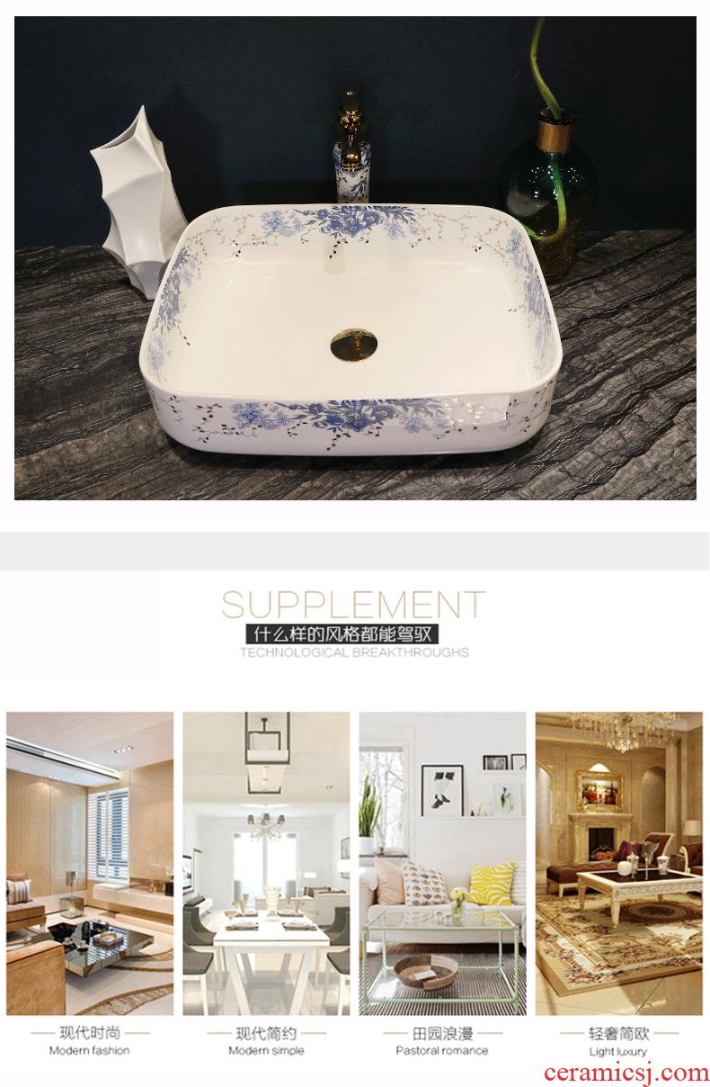 The stage basin circular lavatory household ceramics European art basin basin toilet lavabo, continental basin