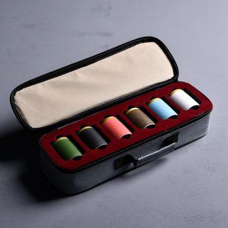 Hong bo acura celadon mini caddy convenient save small POTS ceramic POTS sealed tea bags