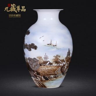 Jingdezhen porcelain masters of new Chinese style hand-painted ceramic vases, furnishing articles flower arrangement sitting room decoration home decoration