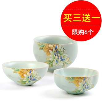 Sample tea cup ceramic cups suit household kung fu tea tea set single cup master cup your porcelain, small bowl