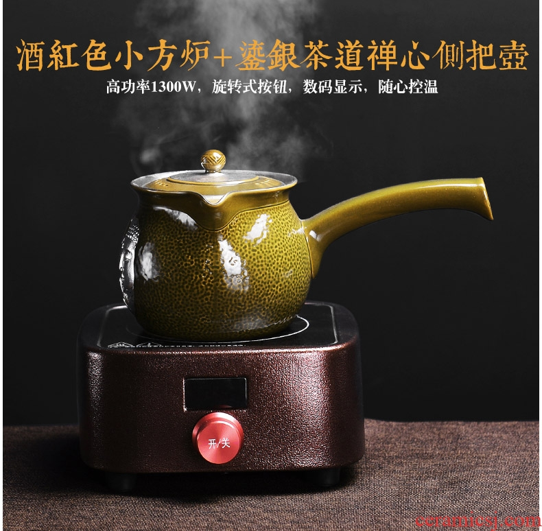 It still fang Japanese black tea boiled the teapot tea boiled tea exchanger with the ceramics heat side put the pot of household electricity TaoLu suits