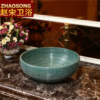 Restoring ancient ways of song dynasty ceramic art stage basin bathroom basin that wash a face to wash your hands lavatory basin outdoor balcony villages