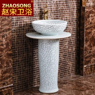 European modernism of song dynasty porcelain column basin large toilet lavabo, lavatory balcony outdoor pool