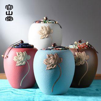 RongShan hall ceramic tea pot size lotus seal pot black tea tea pot coarse TaoCun tank cork