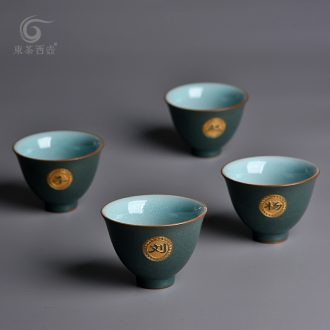 East west tea pot of kung fu master cup private custom ceramic cups lettering sample tea cup of single cup size