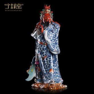 Better sealing the duke guan kiln ceramics Buddha statues Sir Zhong guan yu furnishing articles