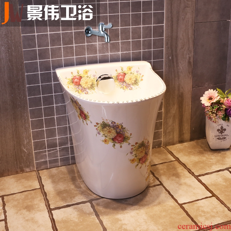 Mop pool ceramic mop basin floor mop pool of household toilet mop pool small balcony palmer pool