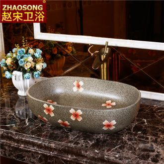 Europe type restoring ancient ways of song dynasty domestic large stage basin ceramic art basin elliptical lavabo thickening lavatory outdoor