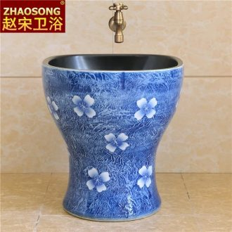 Zhao song in Europe type restoring ancient ways conjoined square mop pool ceramic mop basin household mop mop pool trough the balcony