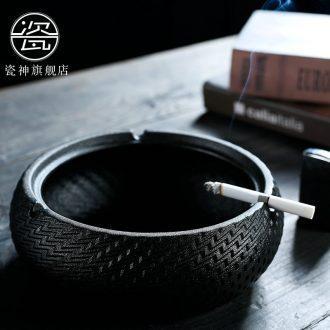 Modern Japanese household porcelain god ashtray ceramic creative fashion wind large bedroom a sitting room tea table ashtray